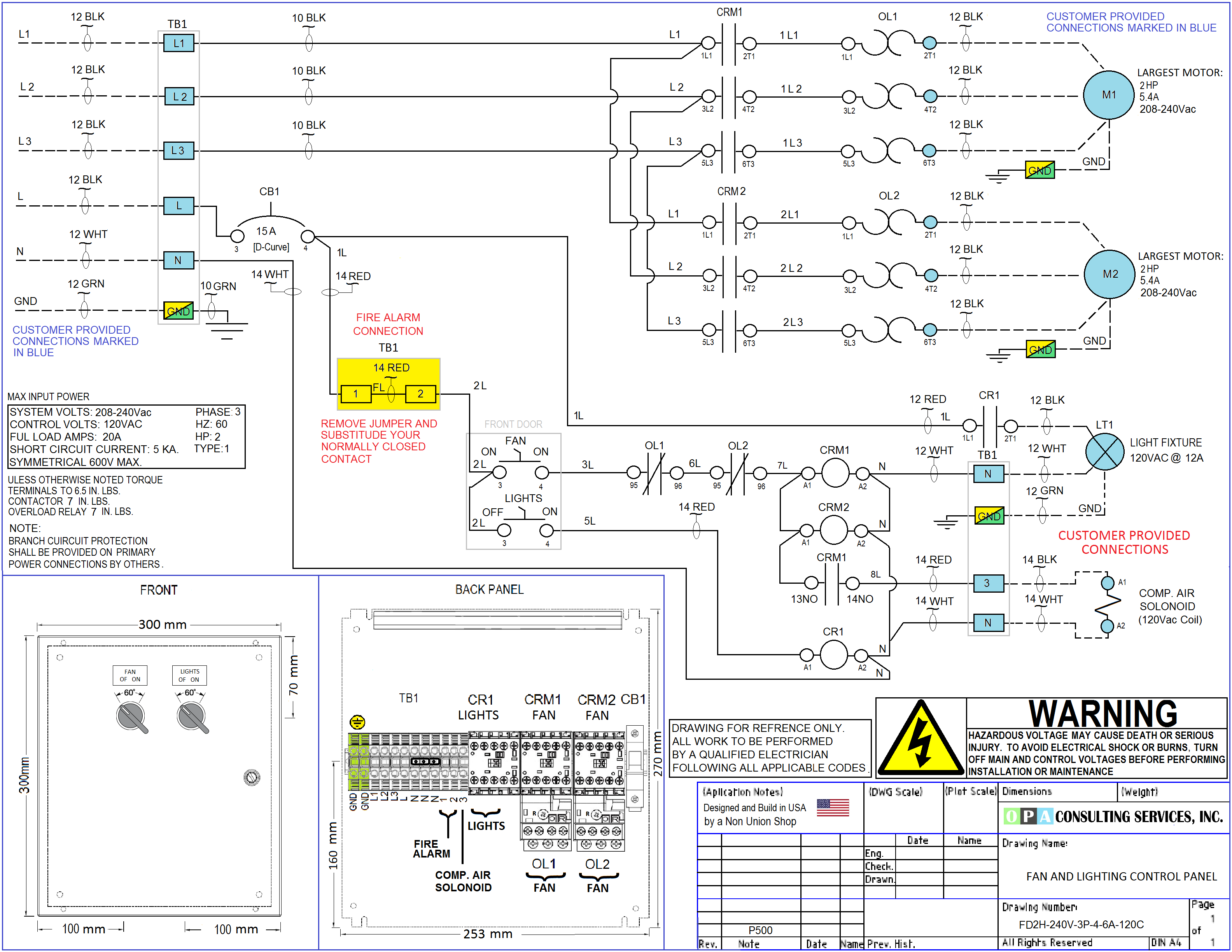 Paint Booth Control Panel Drawing ... Free to Download