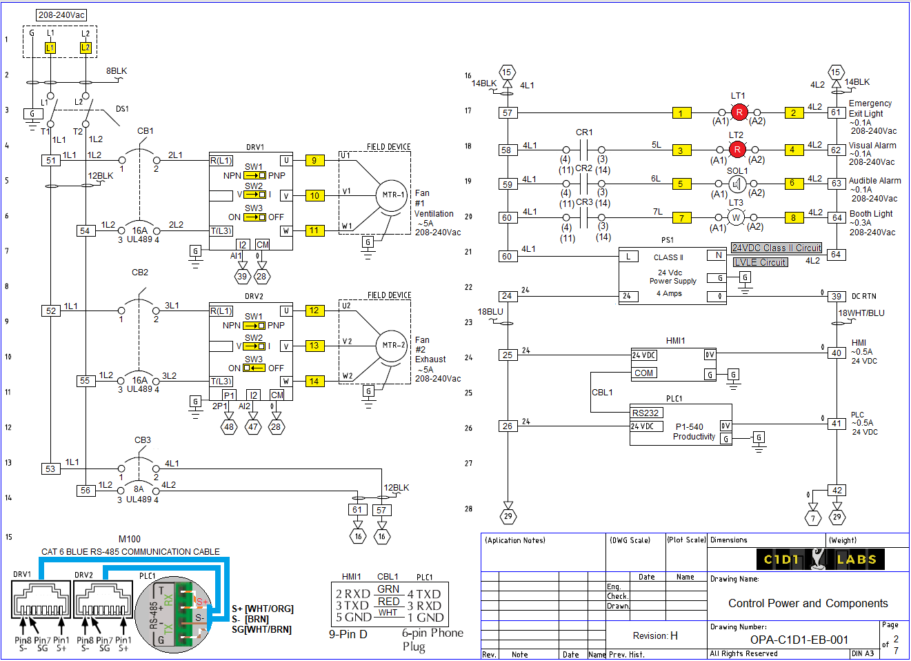 Extraction Booth Controller Drawing ... Free to Download